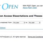 قاعدة PQDT Open للبحث في أكثر من 10 ملايين اطروحة جميع التخصصات