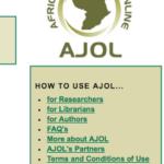 قاعدة African Journals Online محتوى مجاني في جميع التخصصات.