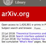 arXiv قاعدة علمية مجانية للتخصات العلمية و التقنية .