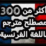 كتاب : أكثر من 300 مصطلح مترجم باللغة الفرنسية.PDF