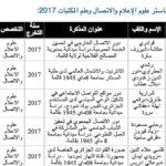 مذكرات تخرج علوم الإعلام والاتصال وعلم المكتبات 2017