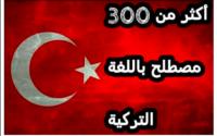 كورس : أكثر من 300 مصطلح باللغة التركية مع النطق PDF